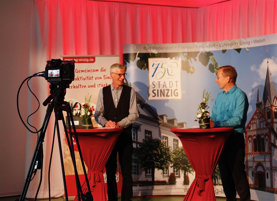 Ungewöhnliche Ideen zeichnen den Direktkandidaten Friedsam aus – Sprudelndes Sinzig 2020 mit BürgermeisterAndreas Geron im LiveStream