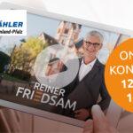 Videokonferenz mit Spitzenkandidat Joachim Streit