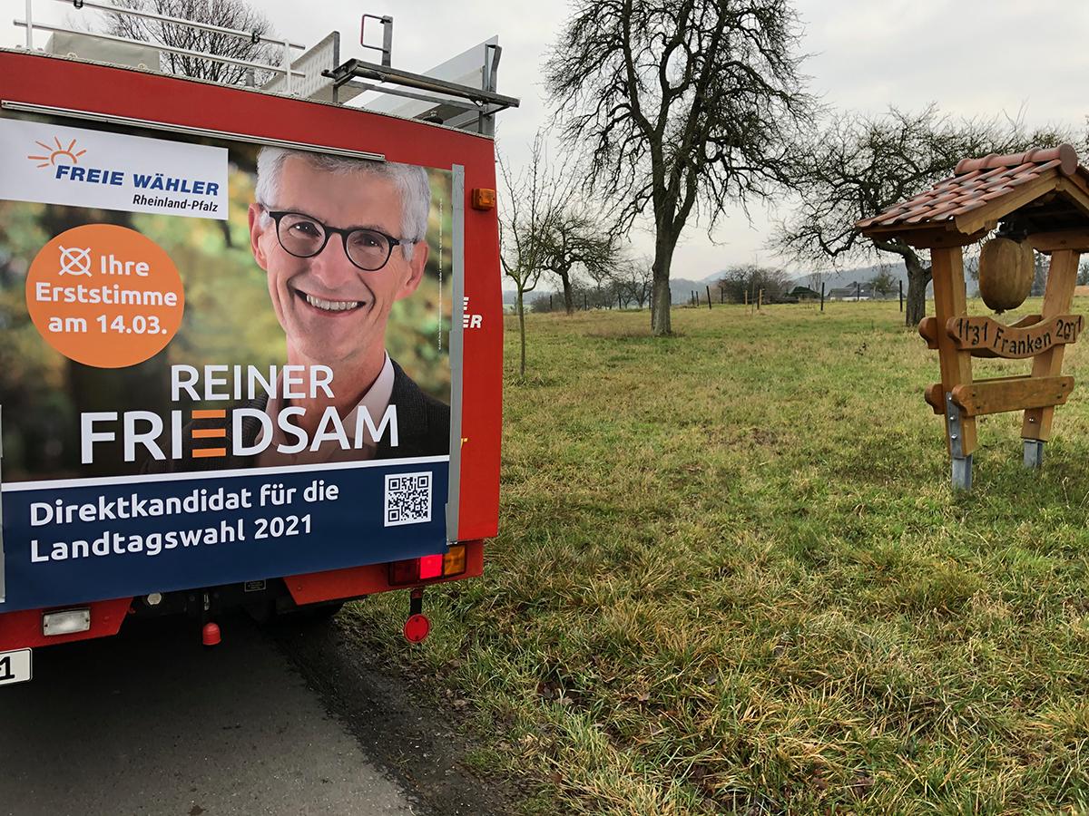 Unterwegs mit dem Wahlmobil der Freien Wähler Rheinland-Pfalz