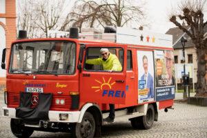 Landtagskandidat Reiner Friedsam unterwegs im Wahlkreis