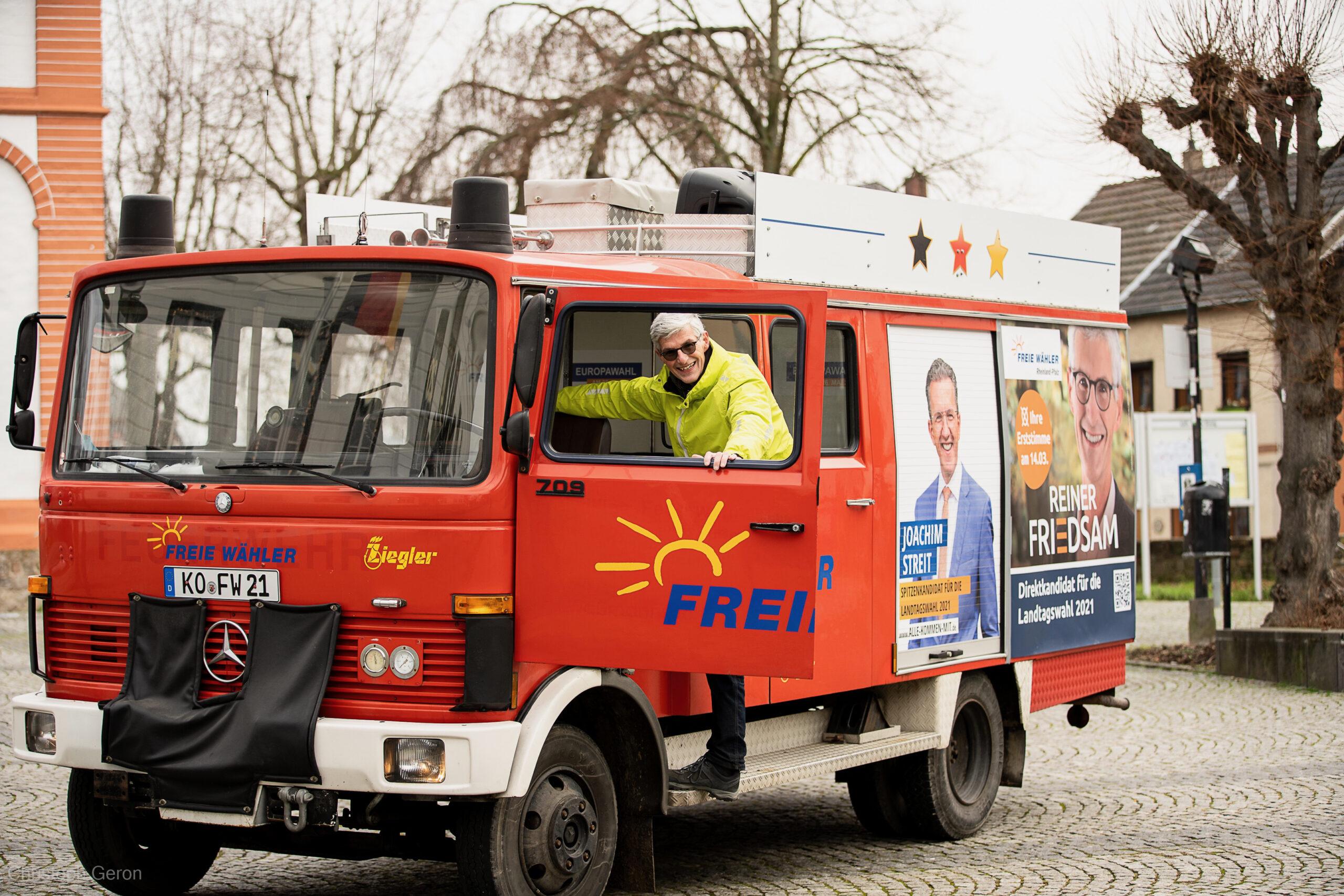Landtagskandidat Friedsam unterwegs im Wahlkreis13