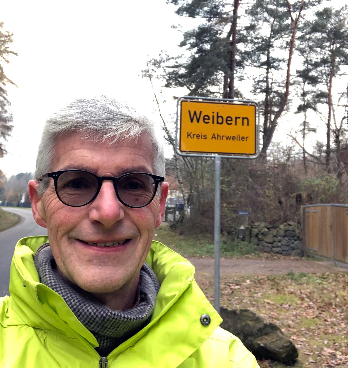 Freie Wähler Direktkandidat Reiner Friedsam unterwegs im Brohltal