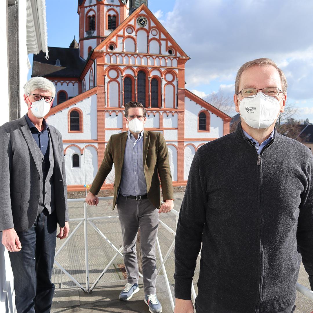 Freie Wähler Landtagskandidaten Reiner Friedsam und Christian Altmaier aus Koblenz im Gespräch mit Bürgermeister Andreas Geron