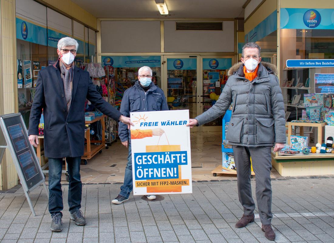 Freie Wähler unterstützen Dirk Sauer Spielwaren