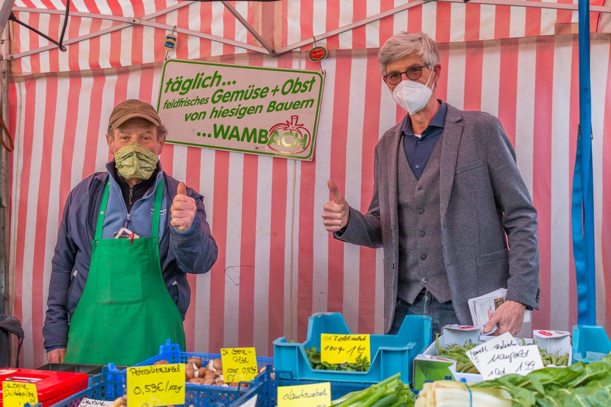 Auf dem Freitagsmarkt in Bad Bodendorf