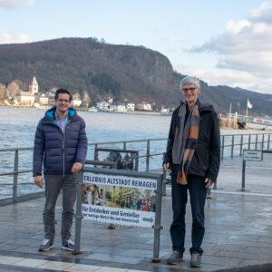 Freie Wähler Landtagskandidaten Reiner Friedsam und Christian Altaier trafen sich in Remagen und fordern den Tourismus regional leben und im Land stärken