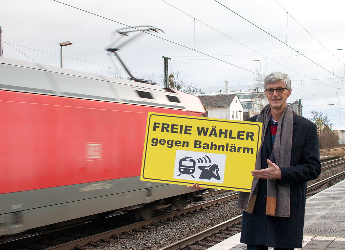 FREIE WÄHLER gegen Bahnlärm