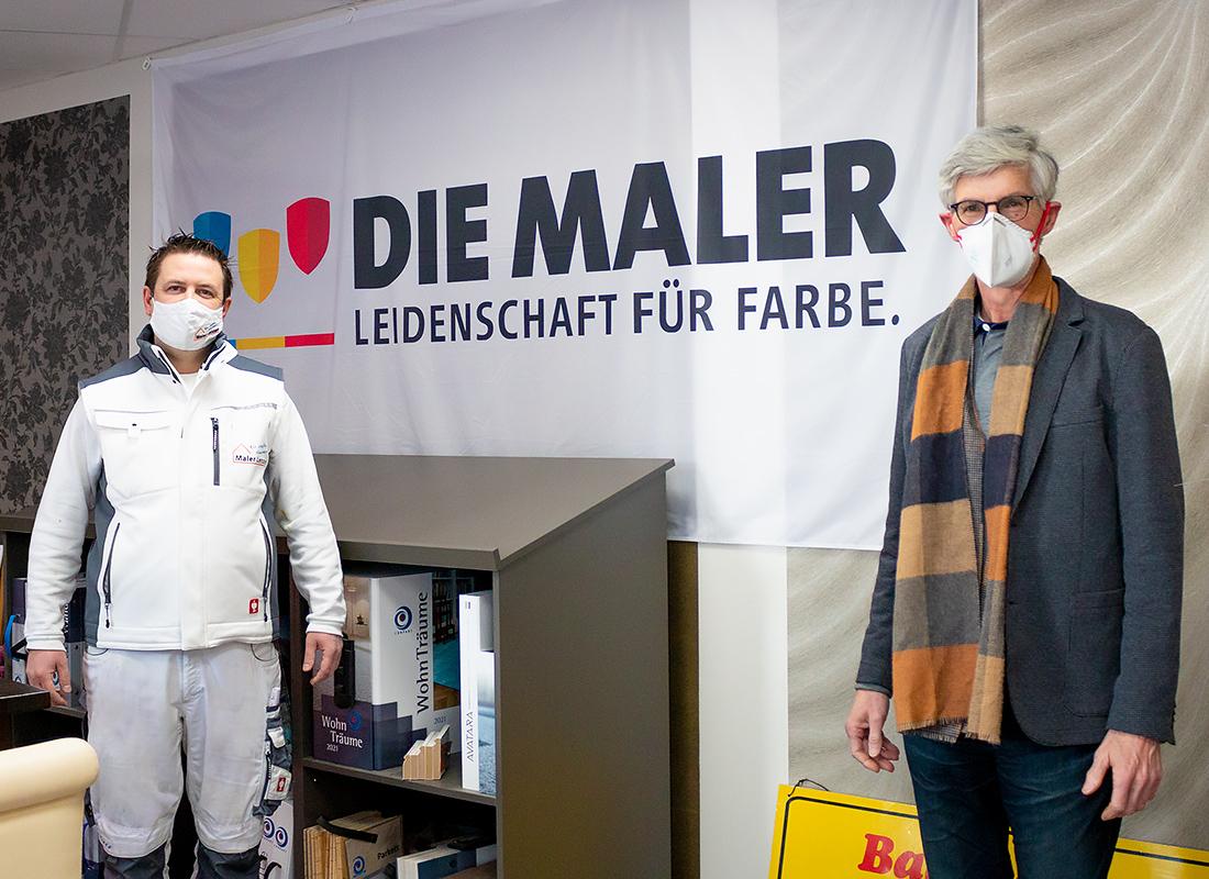 Landtagskandidat Friedsam unterstützt die Maler und Lackiererinnung Ahrweiler mit Guido Lenzen