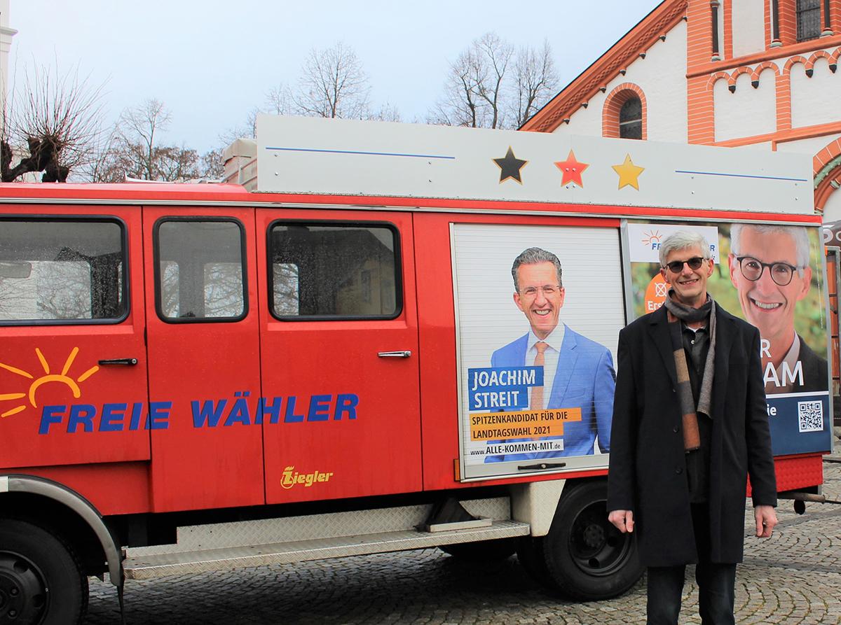 Landtagskandidat Reiner Friedsam im Interview. Foto Franziska Düngen, Wittich Verlag