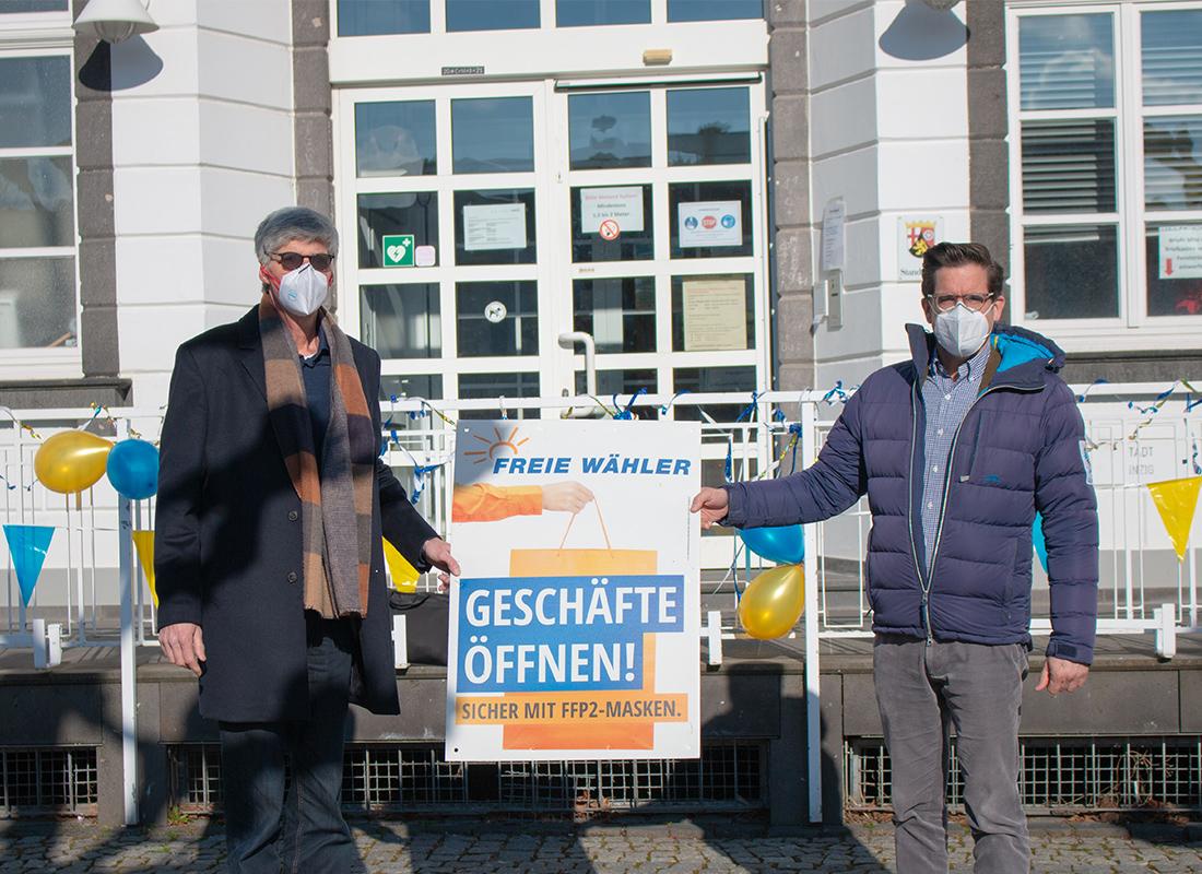 Landtagskandidaten Friedsam und Altmaier fordern Geschäfte öffnen