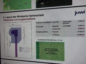 Platzbedarf einer Windenergieanlage im Wald